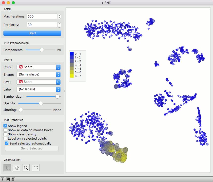 scOrange – Screenshots Single Cell Analysis